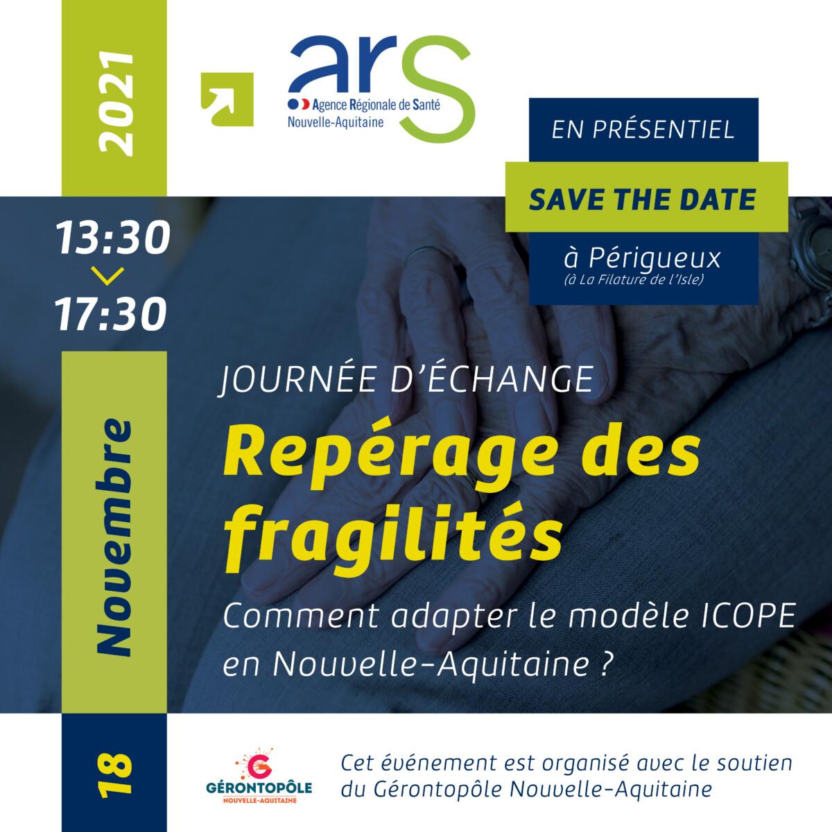 Journée d'échange » Repérage des fragilités : comment adapter le modèle ICOPE en Nouvelle-Aquitaine ? «